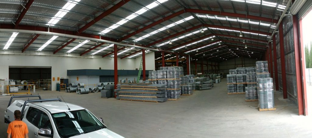 Industrial shed extension for warehouse storage