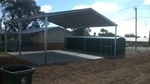 Bird-proof COLA at Tullamore school in NSW