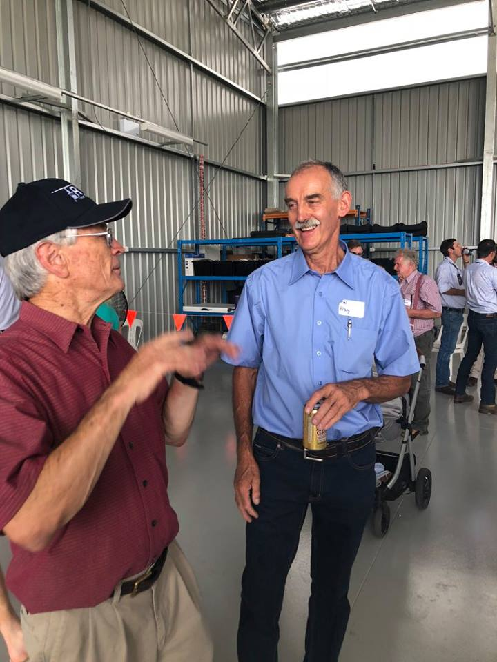dick smith at opening of helicopter hangar