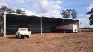 Completed farm shed in Coleambally NSW