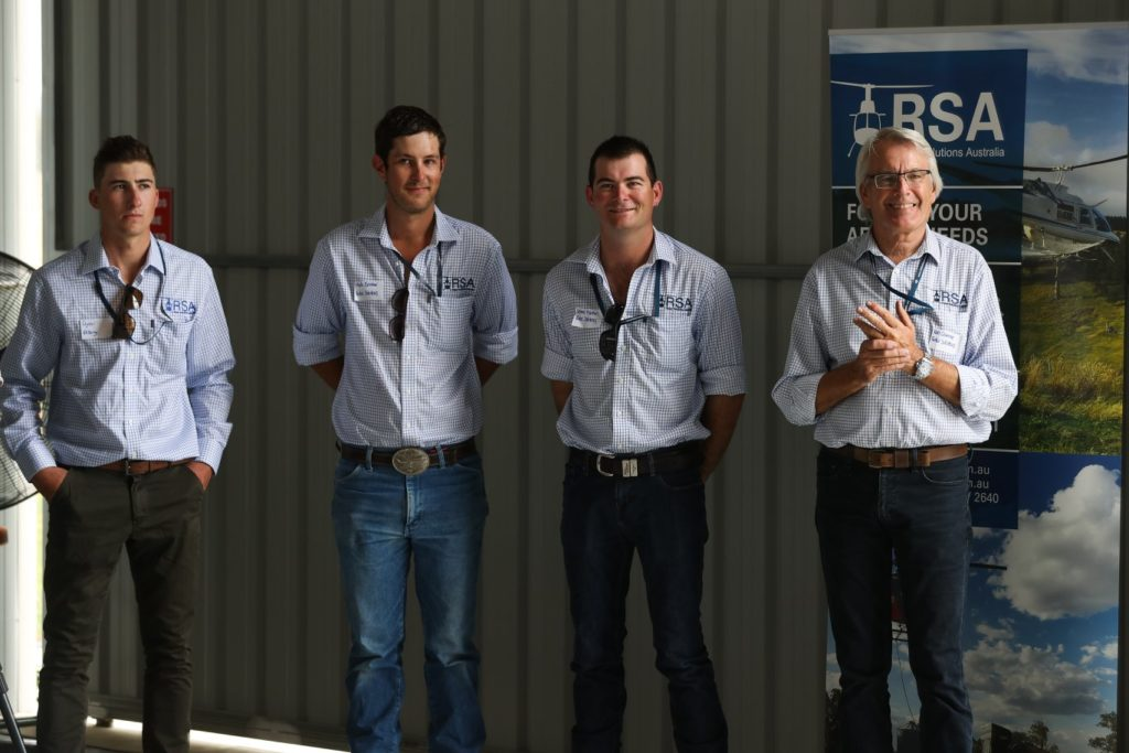 rotor solutions australia crew at opening of helicopter hangar in Albury