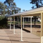 Side view of covered Walkway for Leeton school