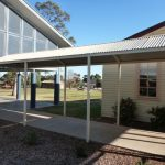 Front view of covered Walkway for Leeton school