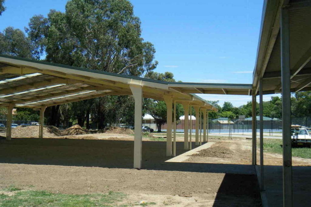 Walkway for covered outdoor learning area for Albury Highschool