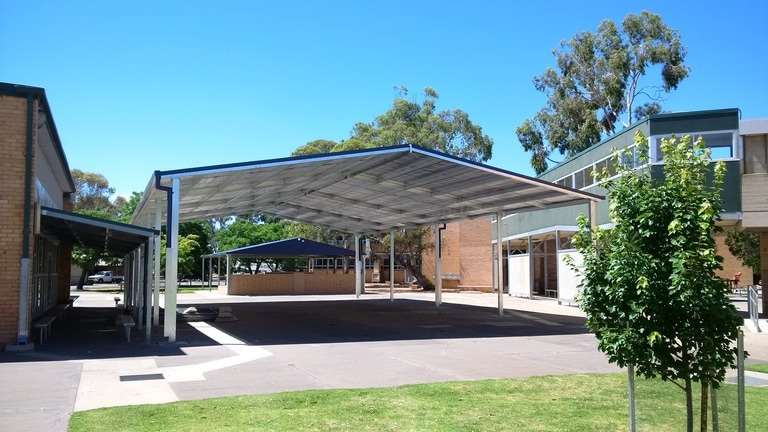 COLA with bird proofing at Finley public school in NSW Australia