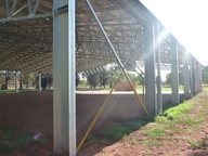 Columns for covered outdoor basketball court