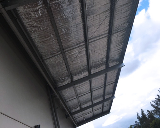 Industrial shed cantilever awning