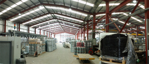 Interior of a completed industrial shed extension