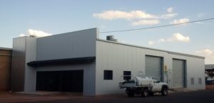 Industrial storage building with front offices