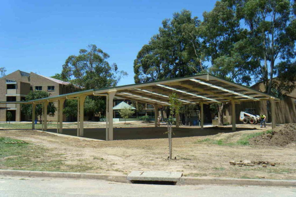 Covered outdoor learning area for Albury Highschool