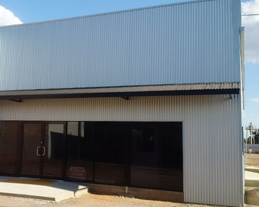 Industrial shed externals and fit outs