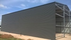 Side wall of completed Hanwood Farm shed