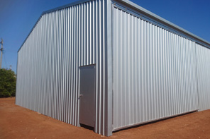 Industrial rural storage shed construction