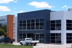 Exterior of a completed warehouse construction project
